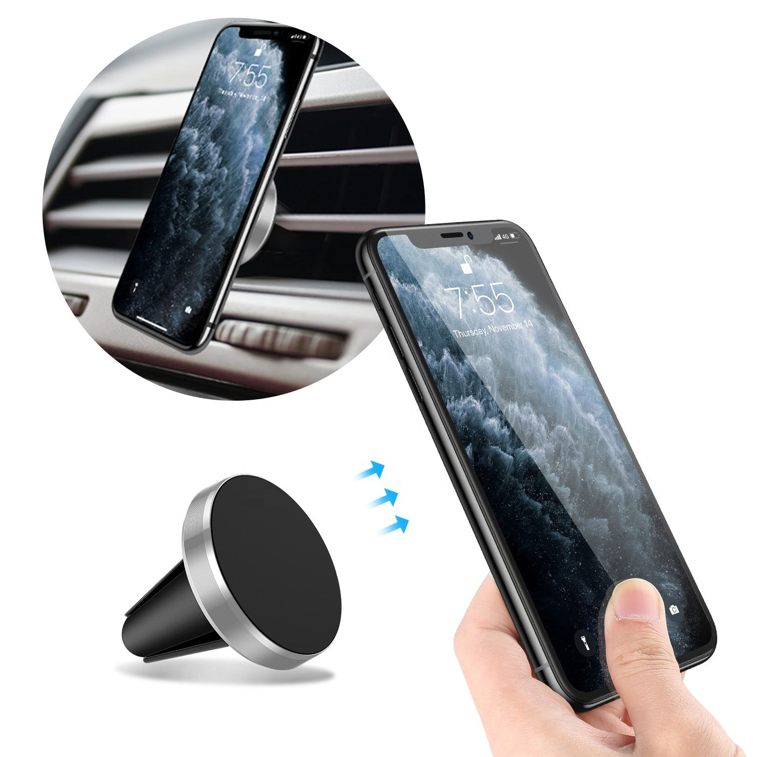 Cell Accessories Magnet Phone Magnetic Car Mount Car Phone Holder Portable Mobile Phone Stander Universal For Smartphone