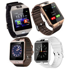 Touch screen smart watch phone call relojes inteligentes bracelet band DZ09 smartwatch with sim card 3G 4G camera silicone strap