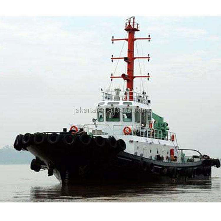 Widely used steel 3600HP Tug boat 1323KW * 2 SET MAIN ENGINE POWER 11.5Kn full vessel speed with 50T warping winch
