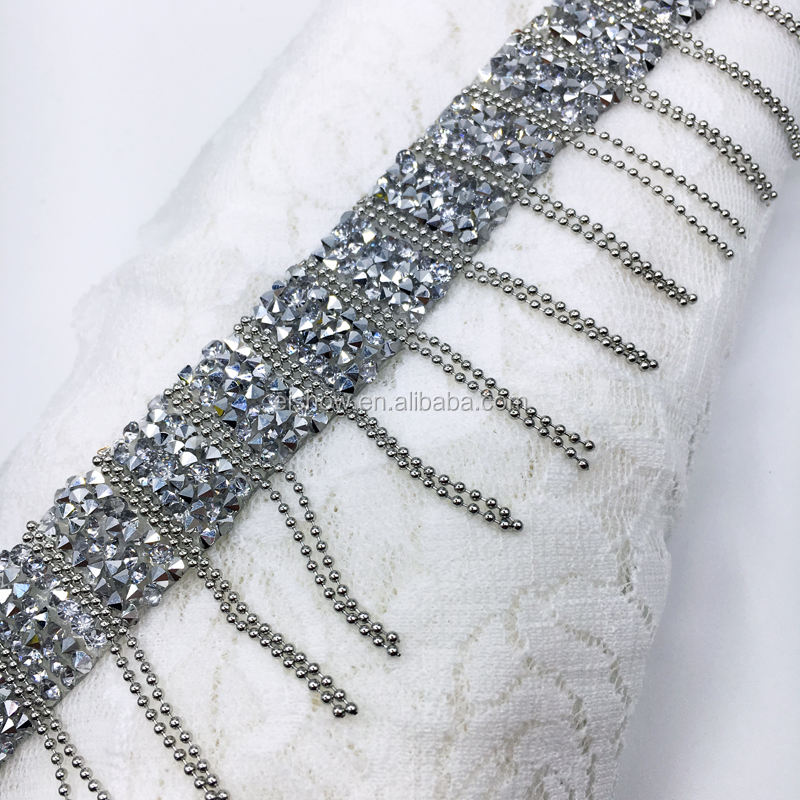 CLEARANCE PRICE 11 METRES  TASSEL TRIMMING FRINGE WITH PEARLS TASSEL