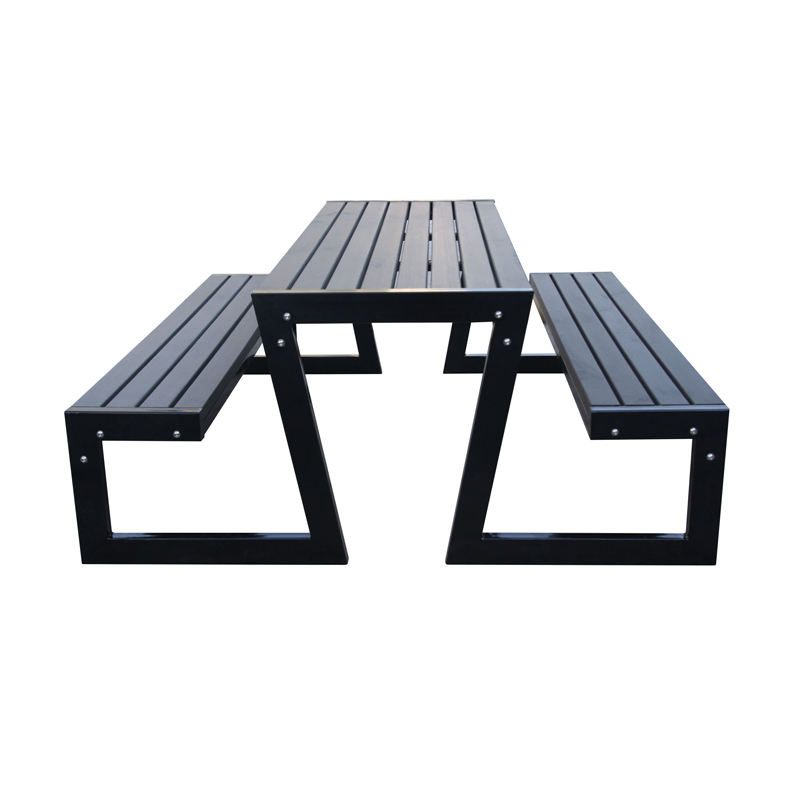 Outdoor furniture picnic table and chairs garden solid wood dining table with bench set patio wooden beer table