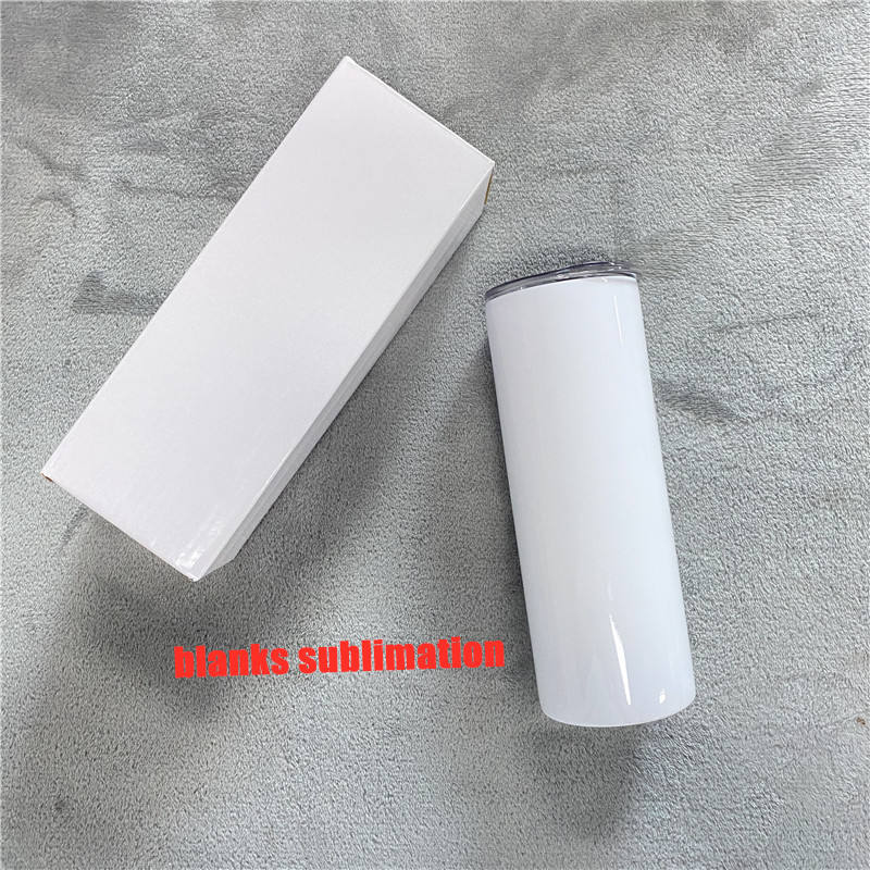 Wholesale non tapered all straight blank sublimation 20 Oz Stainless Steel Skinny Tumbler with same width from up and down