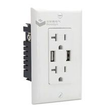 Free Shipping High Speed USB Charger Outlet, USB Wall Charger Duplex Receptacle,20A Tamper-Resistant Receptacle with Wall Plate