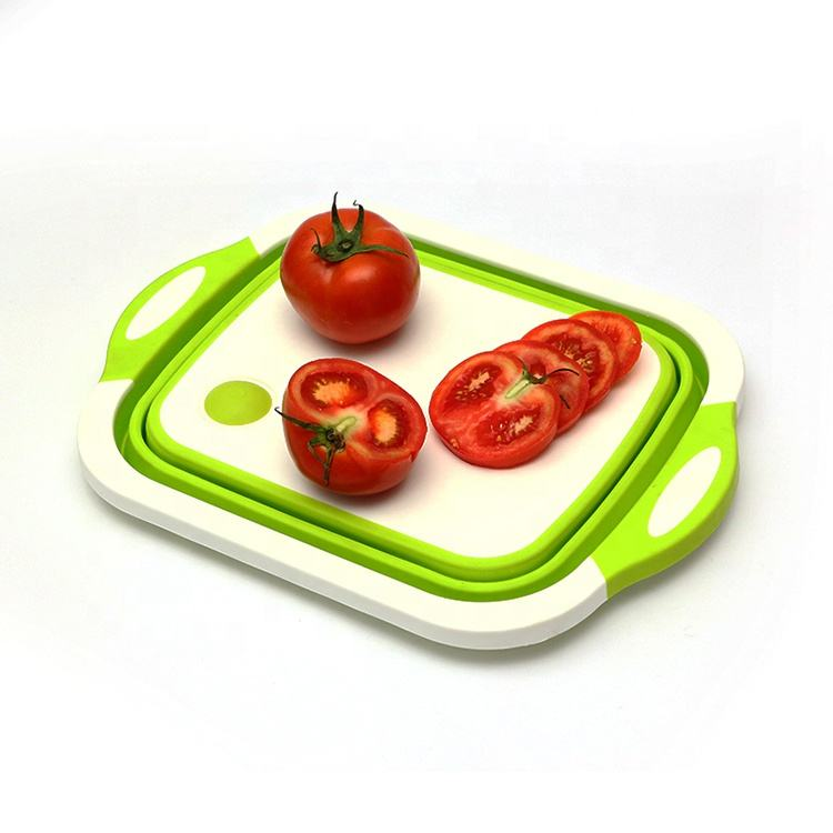 Unique Kitchen Collapsible Foldable Multi function Pp Plastic Cutting Chopping Board