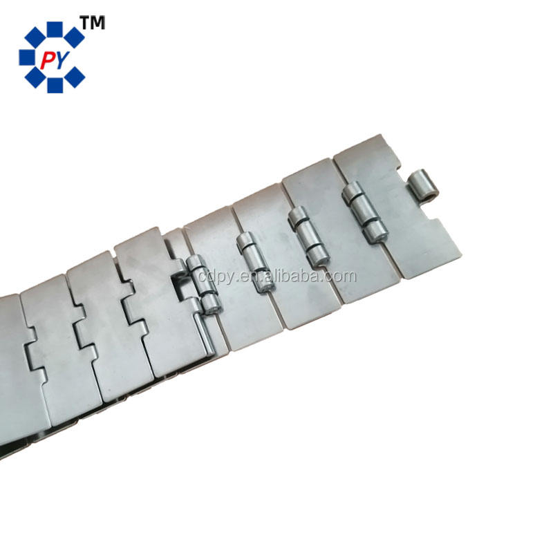 812 series stainless steel strip top chain single hinge direct transmission for conveyor