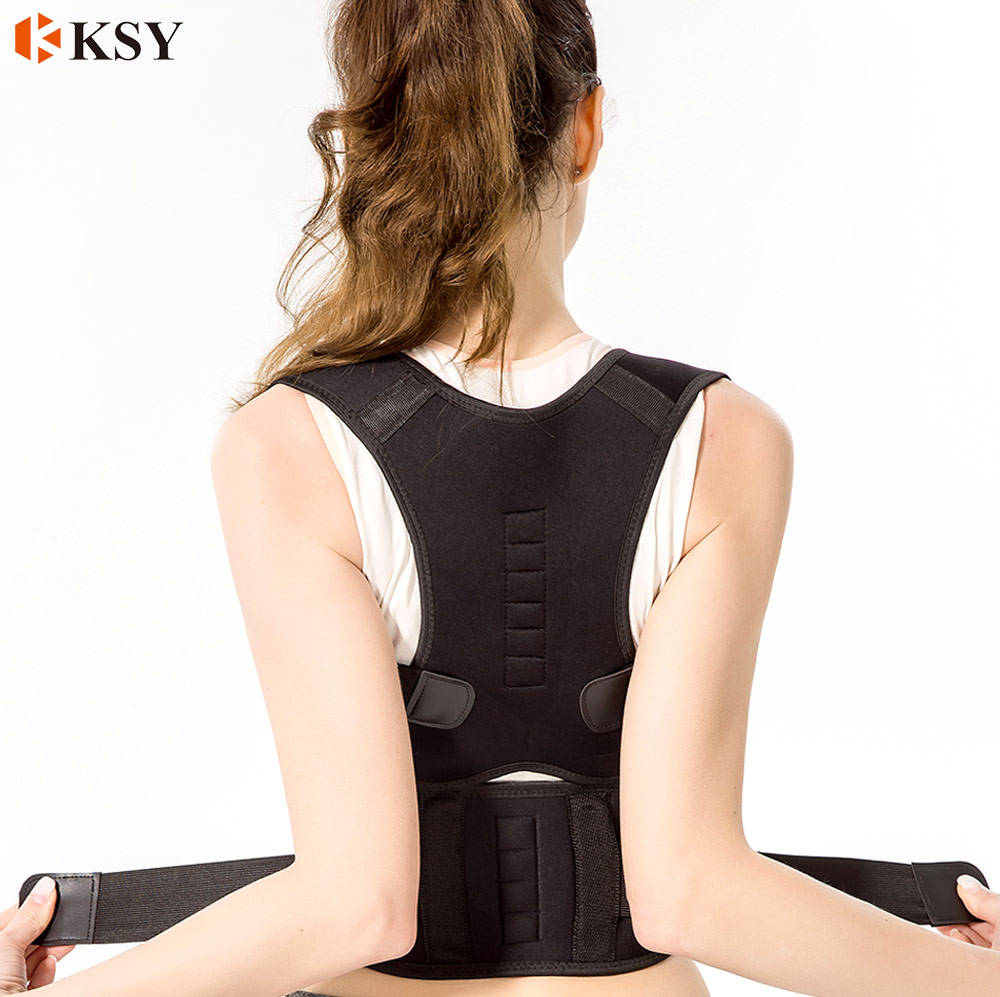 Fully Adjustable Support Belt Improves Posture and Provides Lumbar Back Brace Magnet Back Brace Posture Corrector