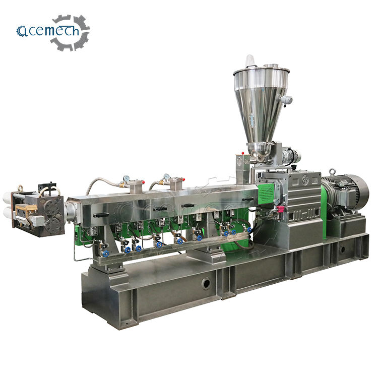 Plastic Recycling Extruder PET Bottle Flakes Granulation Machine