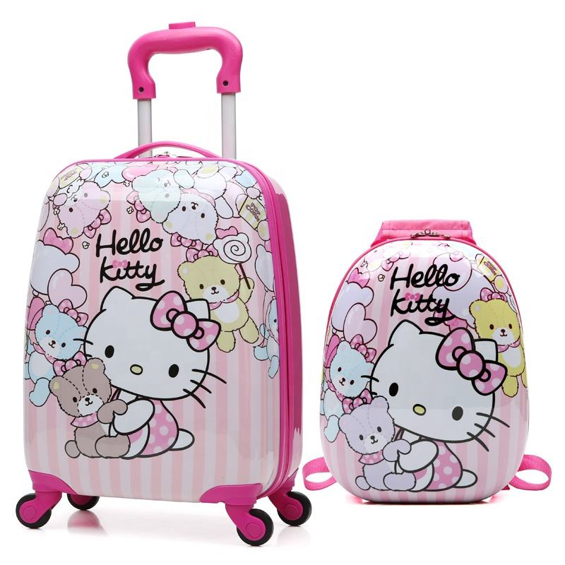Custom Cute Cartoon ABS Hard Case Children Printed Luggage Kids Suitcase