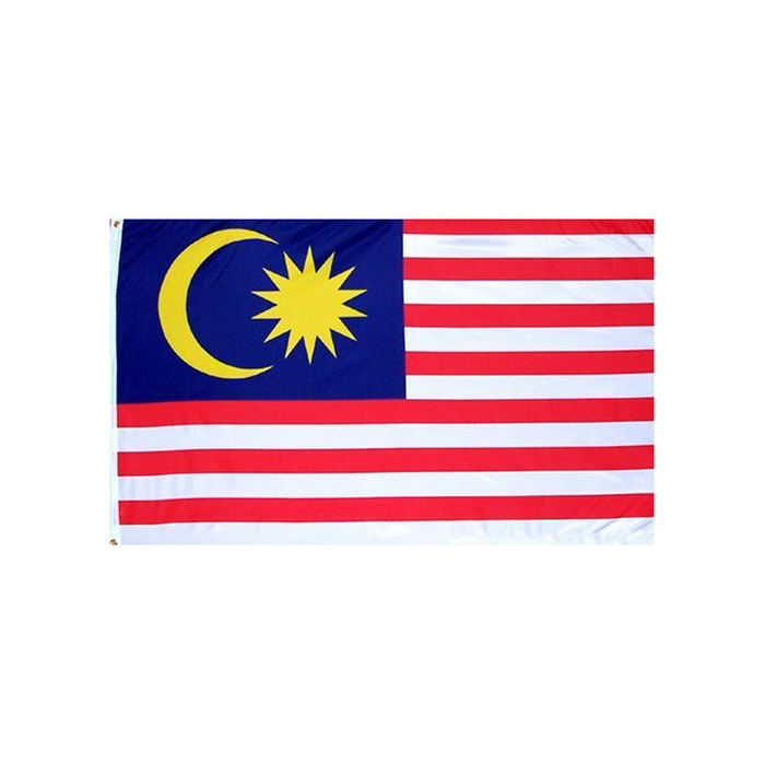 Malaysia Country Flag 3x5 ft Printed Polyester Fly Malaysia National Flag Banner with Brass Grommets