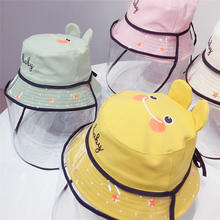 Hot Selling children bucket hat Cartoon child hats with cover for fog for dust party hats children with direct factory Low Price