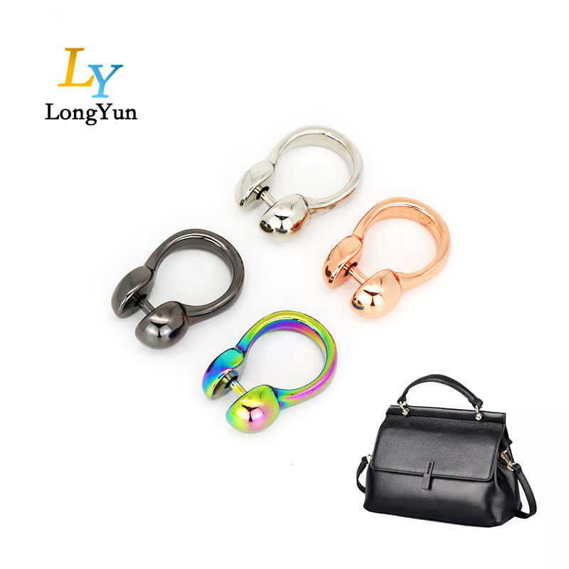 high quality shiny metal bag fitting for handbag part accessories