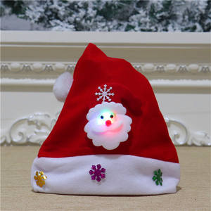 New year LED Christmas Hat Santa Claus Reindeer Snowman Xmas Gifts Cap Christmas Hats Kids Adult