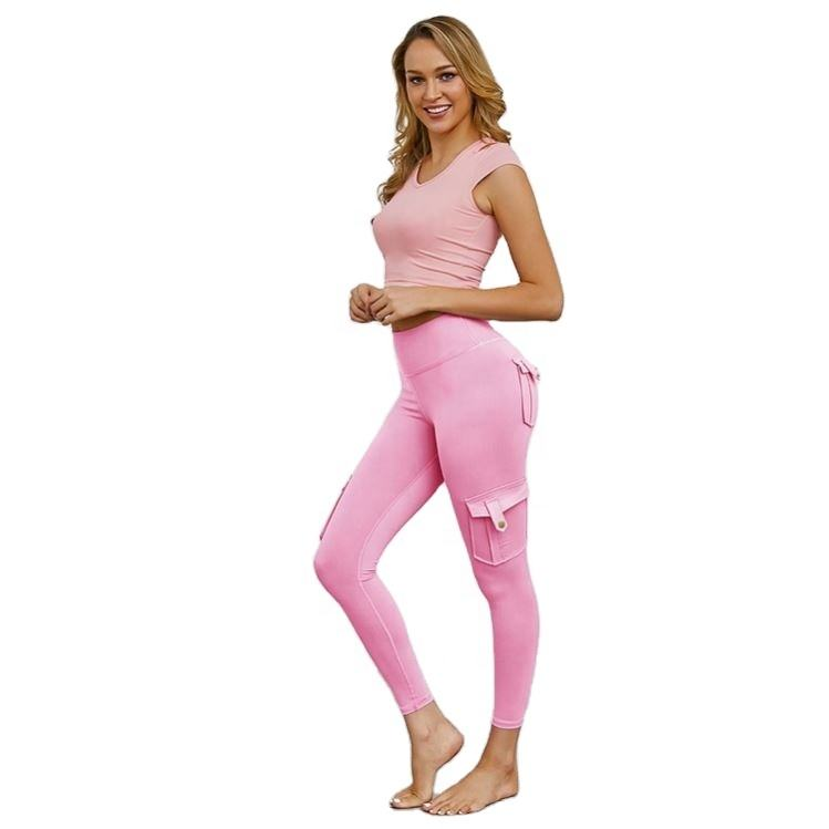 Europe and the United States sell knitted seamless fitness suit lift hip yoga pants sports suit source manufacturers