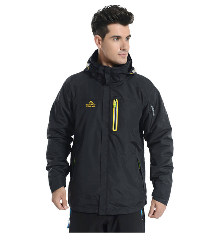 wholesale man high quality Men's 3 in 1 winter jacket outdoor jacket fashion couple outdoor jacket