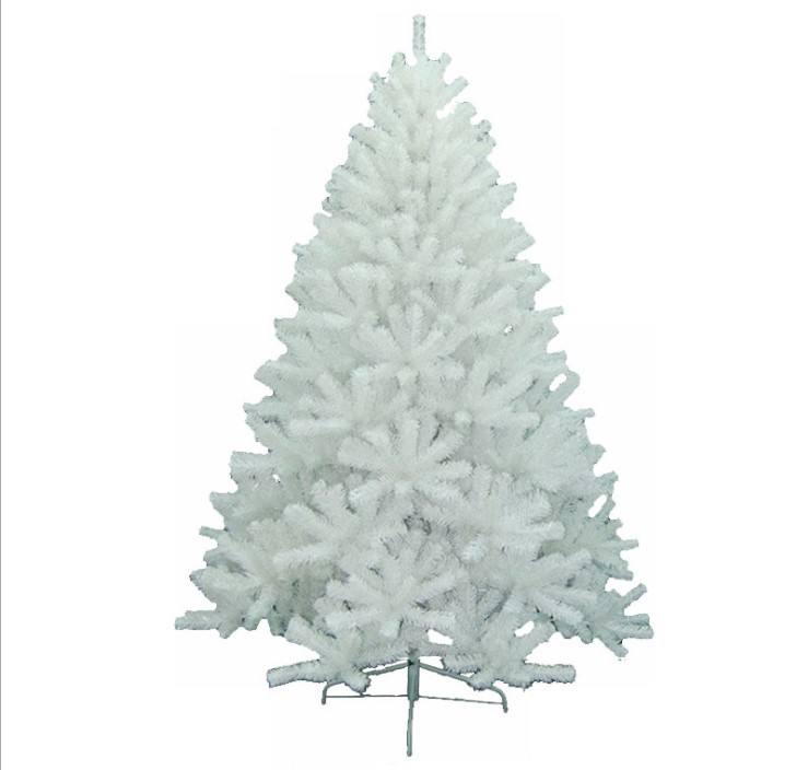 120 cm/4ft PVC beyaz yapay noel ağacı demir taban ile