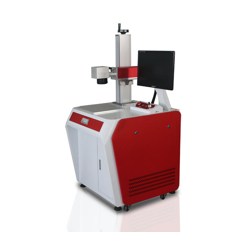 Automatic Camera Visual Positioning Laser Marking Machine金属リングの50W 100W