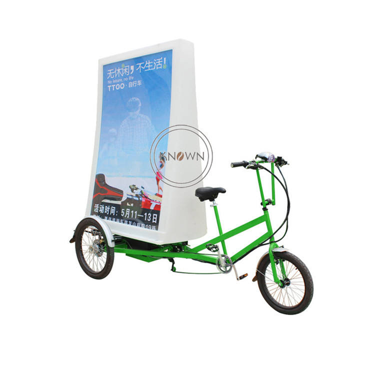 Advertisement Bicycle Mobile 3 Wheel Cargo Bike Advertising Adult Electric Tricycle support Customization