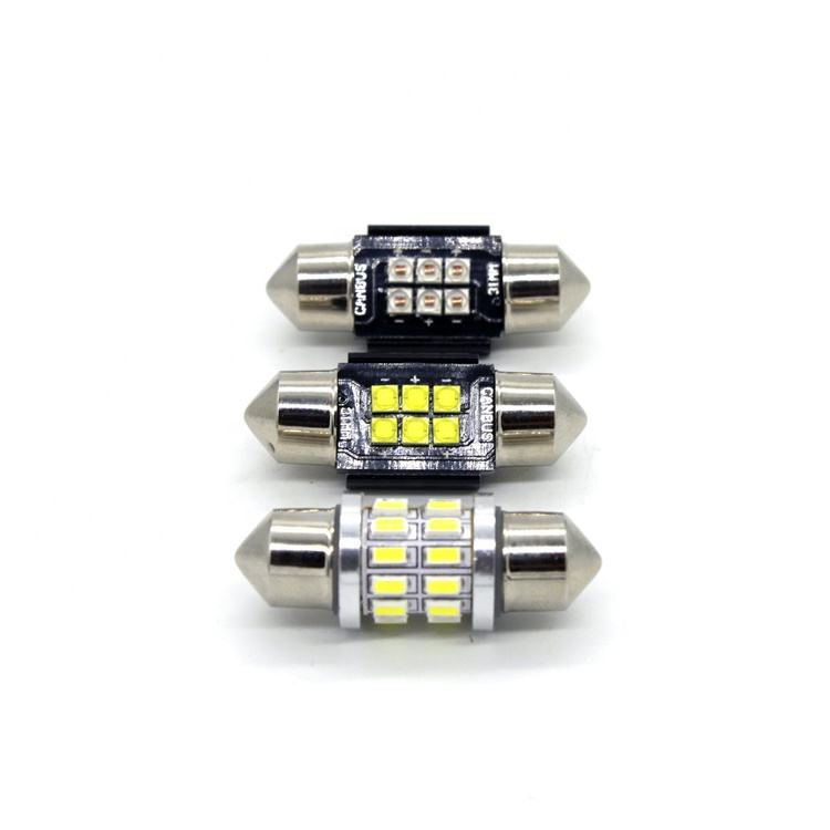31/36/39/41Mm Festoon Canbus <span class=keywords><strong>CREE</strong></span> 2525 6SMD C5W Truk Lampu Led untuk Taksi