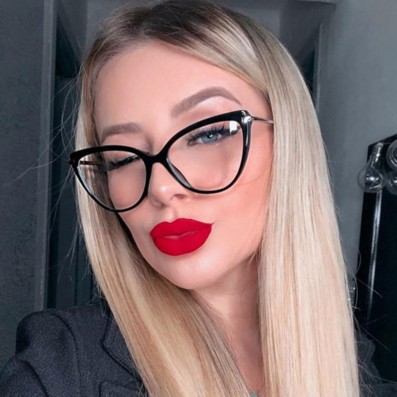 Fashion Cat Eye Glasses Women Transparent Lens reading sunglasses Men Vintage Brand Design Luxury Reading Glasses Plain Glasses