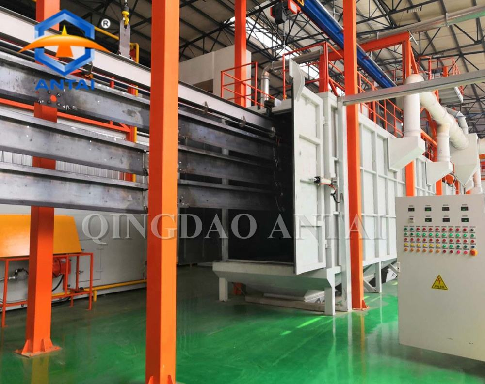 High quality powder coating painting equipment with drying booth chamber