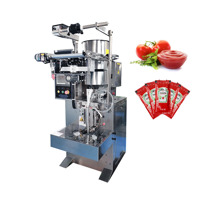 Low cost automatic vertical filling and sealing machine for sachet liquid sauce honey oil packing machine for ketchup