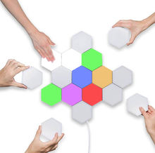 RGB Touch Sensitive Night Lamp Magnetic Quantum Honeycomb Wall Light Module Hexagon LED Light