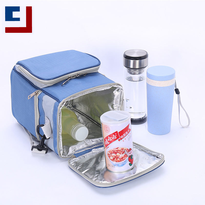Small aluminum foil square heat preservation school picnic lunch box insulated cooler bag