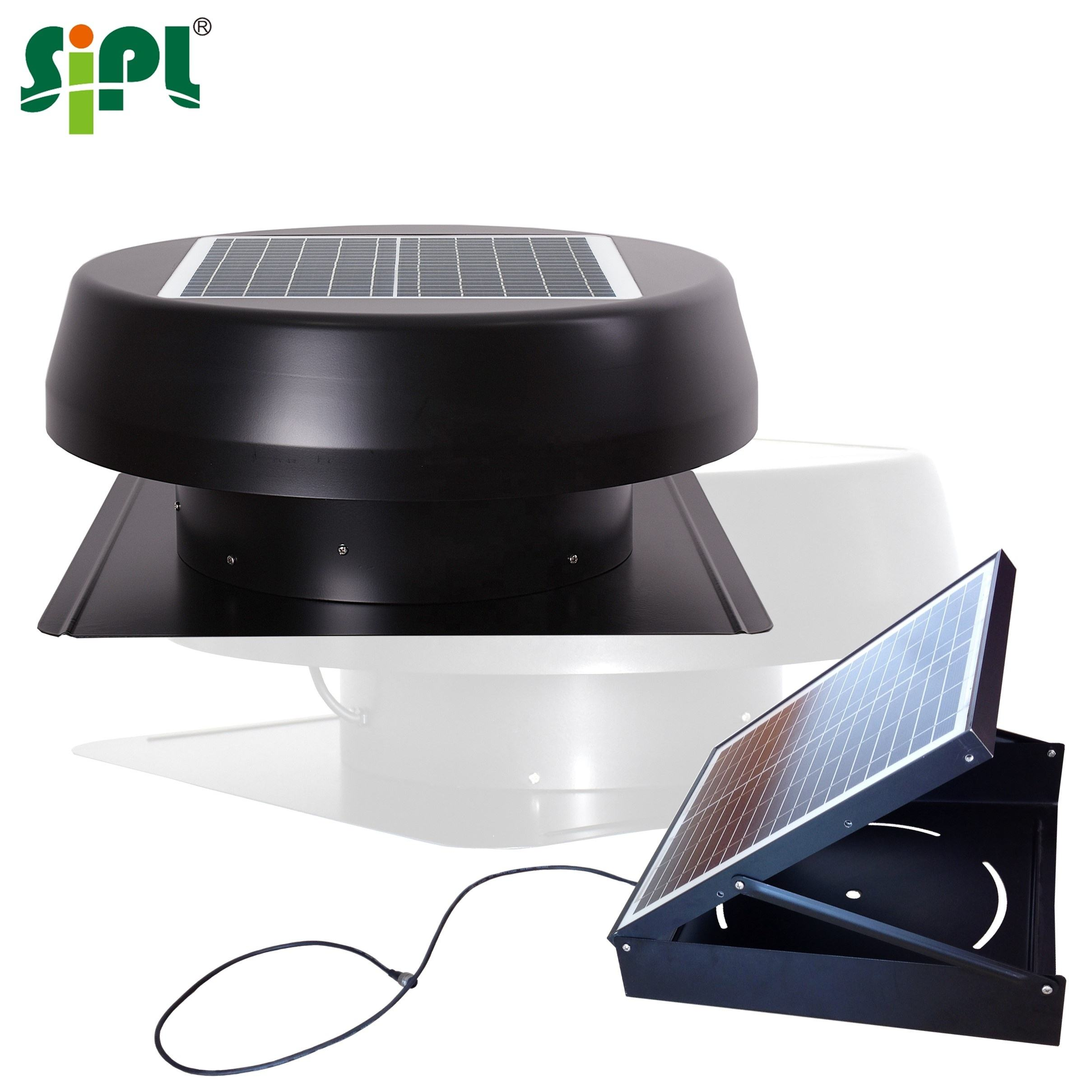 Eco Vent Tools Sunny Solar Battery Powered Home Ventilation HVAC System Auto Heat Extraction Air Circulation Attic Fan Blower