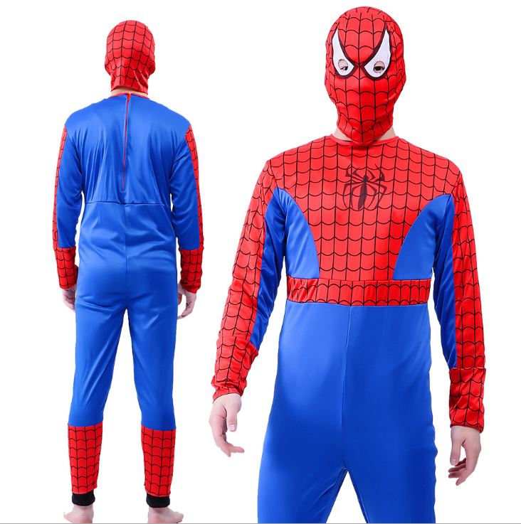 Hot sales halloween cosplay voor party superheld spider-man spider man kostuum volwassen