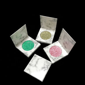 Satu Marmer Eyeshadow Private Label Make Up Kosmetik Tidak Ada Merek Ditekan Glitter Eyeshadow 50 Warna