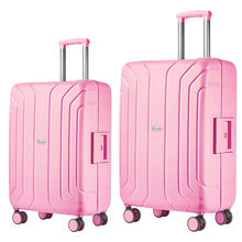 aluminium PP lightweight hard shell carry on 3 piece luggage set spinner luggage bag