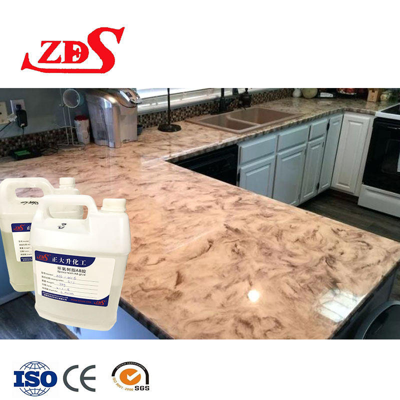 epoxy safe for food/high temp epoxy/crystal clear Kitchen countertop top epoxy resin coating