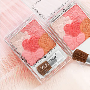 Bloemblaadje Carving Vijf Kleur Blush Palette Private Label Cosmetische Blusher
