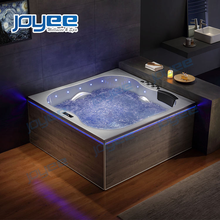 JOYEE luxury design tub bathing spa for 3 person whirlpool hot tub bathtub with step for sale