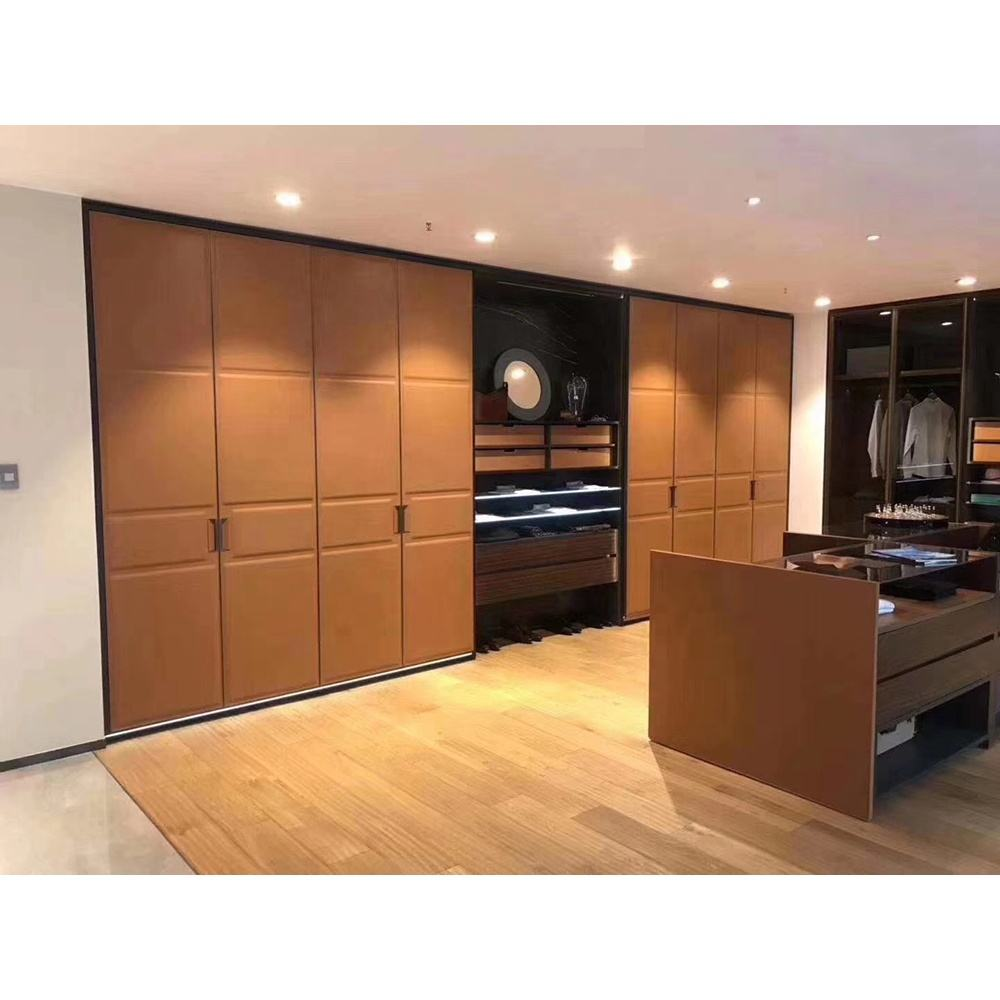 Wholesale products china modern leather wardrobe door for bedroom