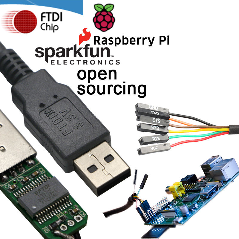 גבוהה תואם WIN10 5V 3.3V FTDI FT232RL USB לuart TTL סידורי כבל עבור Arduino פטל Pi