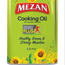 Mezan Cooking Oil Tin 2.5L X 6 Frying oil Cooking vegetable oil sunflower cooking oil