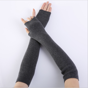 Wholesale Winter Stylish Soft Cashmere Half Finger Arm Cover Woman Warm Fingerless Gloves