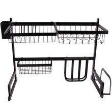 Union Source Stainless Steel 2 Ties Storage Holders Racks Kitchen Accessories Drying Storage Rack Over Sink