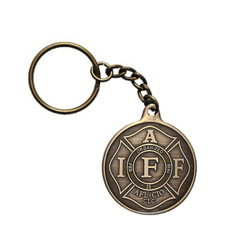 Zinc Alloy The Medals Custom Keychain Calm Medal Key Rings Jewelry Souvenir Chain Ring