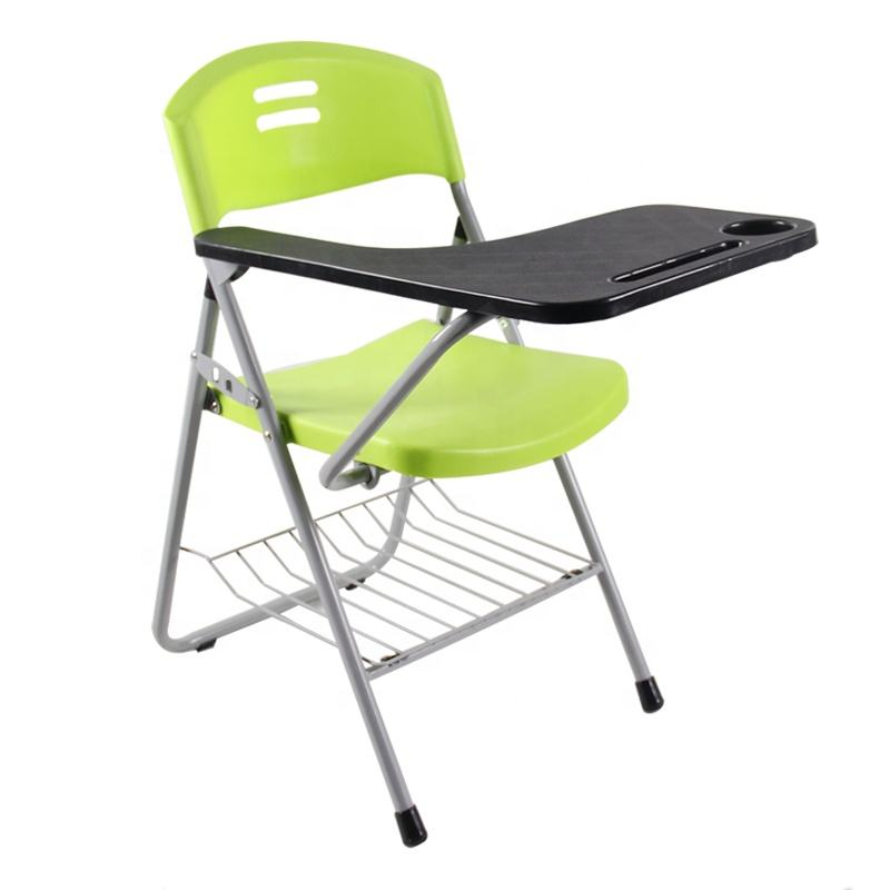 New folding Writing Chair of Student Big Tablet Plastic Folding Table And Chair