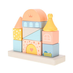 High-quality development of children's intellectual toys wooden castle building block toys