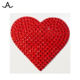 Crystaltex red heart rhinestone crystal hotfix transfer for garment shoes hats