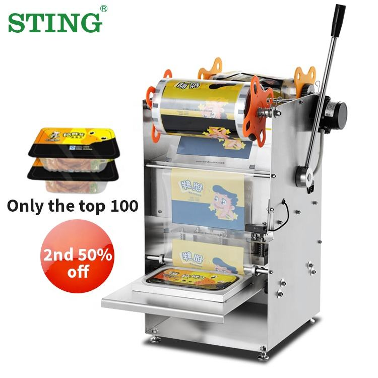 Semi Automatic Table Top Food Tray Sealing Packing Machine Sealer Manual Manufacturers