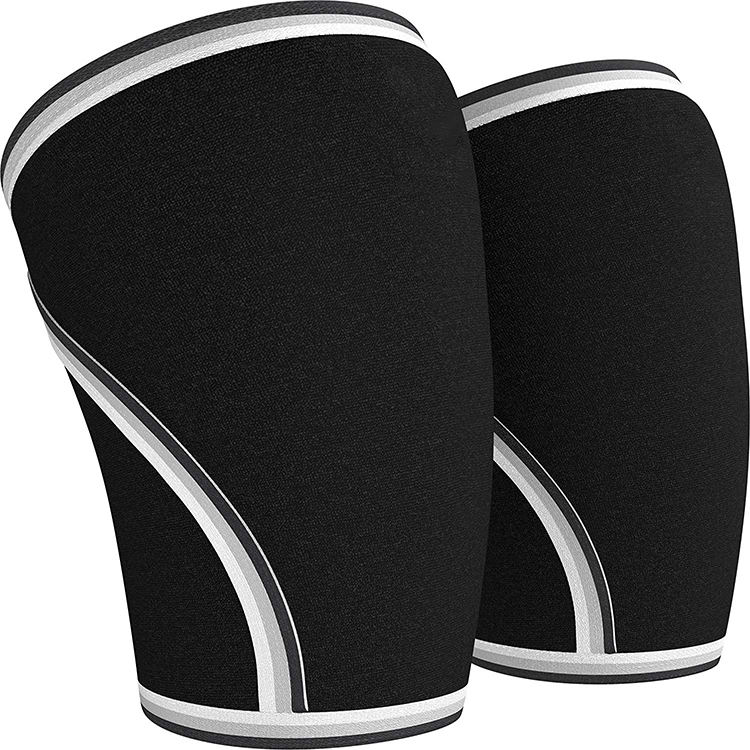 Lifting Knee Sleeves Support Compression for Weightlifting Powerlifting Cross Training 7mm Neoprene Sleeve for Both Women