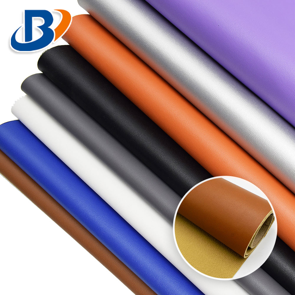 1.0mm Thick Nappa Grain Fabric Material Synthetic Artificial PU Leather For Bag Shoe