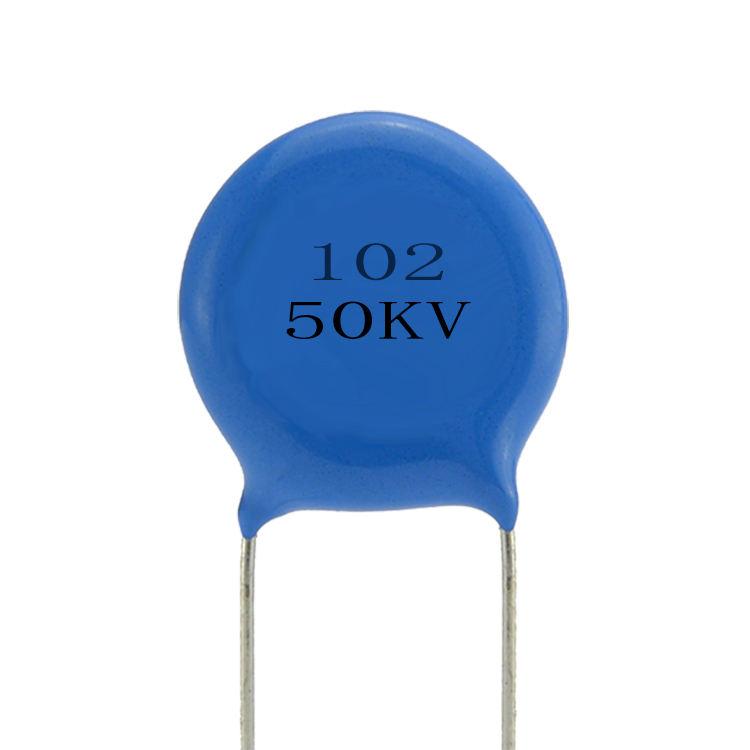 6 PACK Ceramic Disc Capacitors 102pF 0.001uF 3000V 3KV BLUE 102 -