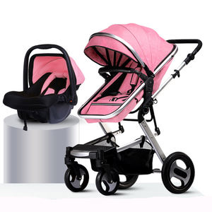Factory Wholesale Umbrella travel strollers Multifunctional 3 in 1 large wheels Baby Stroller