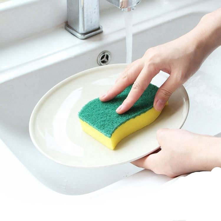 Wholesale Cellulose Strong high density eco friendly colorful magic eraser dish wash kitchen cleaning sponge