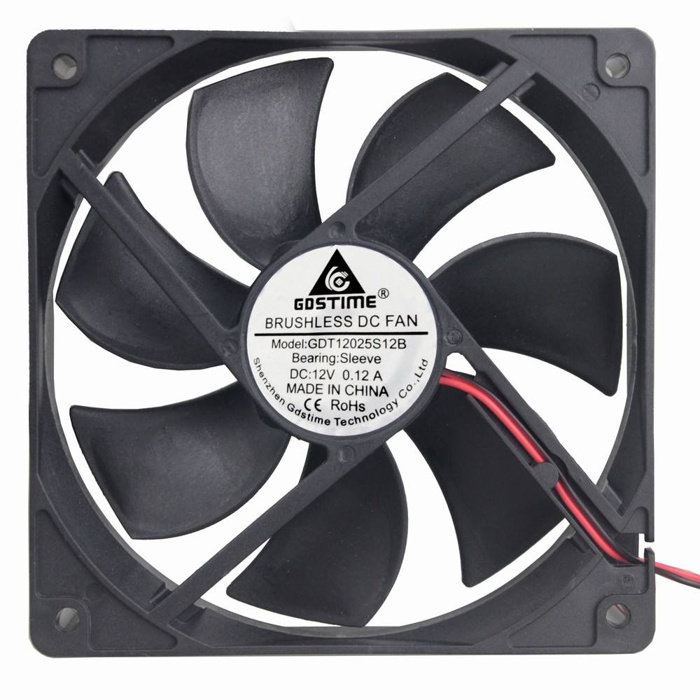 Gdstime GDA1225 12V 120 x 120 x 25mm 120mm 12CM 5 inches High Speed Axial DC Cpu Cooler Cooling fan